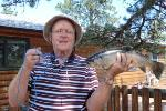 Dad's catch of day at Lake George.  A friend had us as their guest at this private fishing lake.
